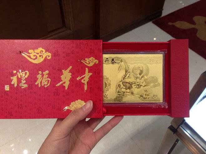 Mốt mừng tuổi bằng tiền vàng hình dê và cừu ở Trung Quốc
